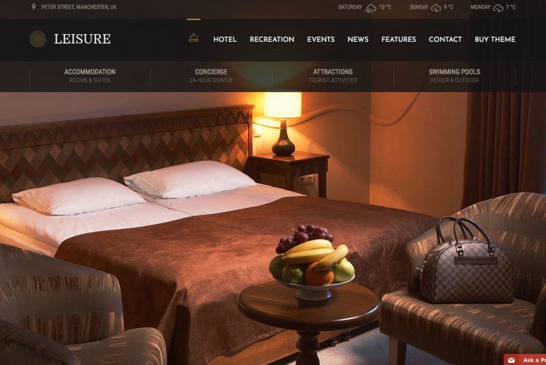 Thème wordpress hotel