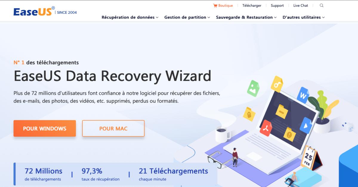 meilleure logiciel récupération de données